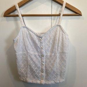Hollister lace crop top